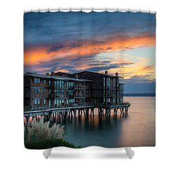 Shower Curtain featuring the photograph West Seattle Living by Dan Mihai