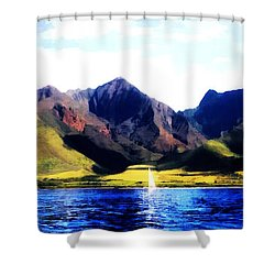 West Side Shower Curtain by Kenneth Armand Johnson