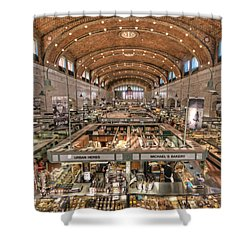 West Side Market Shower Curtain by Brent Durken