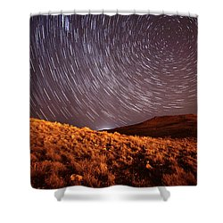 Shower Curtain featuring the photograph West Side Volcano by Brian Spencer