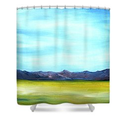 West Texas Landscape Shower Curtain