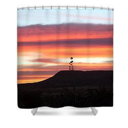 Mile Marker 122 West Texas Sunrise Shower Curtain
