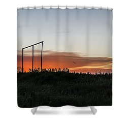 Shower Curtain featuring the photograph West Texas Sunset by Karen Slagle