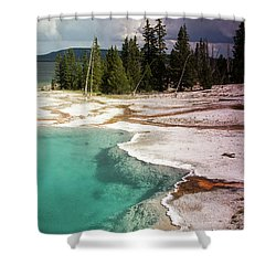 West Thumb Geyser Pool Shower Curtain