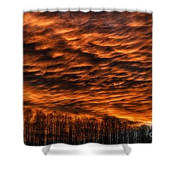 West Virginia Afterglow Shower Curtain by Thomas R Fletcher