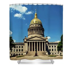 West Virginia Capitol - Charleston Shower Curtain by L O C