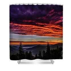 West Virginia Highland Dawn Shower Curtain