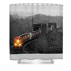 Westbound Grain Shower Curtain by Brad Allen Fine Art