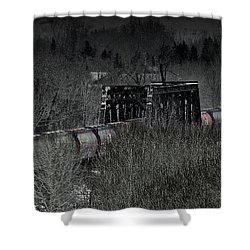 Westbound Grain II Shower Curtain by Brad Allen Fine Art