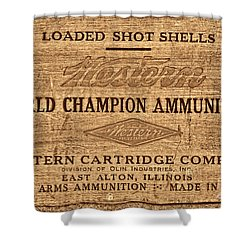 Western Ammunition Box Shower Curtain by American West Legend By Olivier Le Queinec