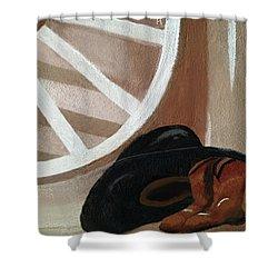 Western Art Work For Luke Shower Curtain