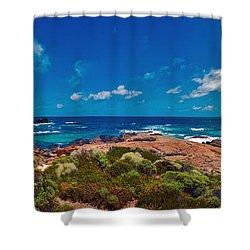 Shower Curtain featuring the photograph Western Australia Beach Panorama by David Zanzinger