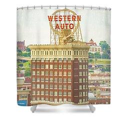 Western Auto Shower Curtain