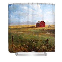 Western Barn Shower Curtain