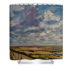 Skies Westward Shower Curtain