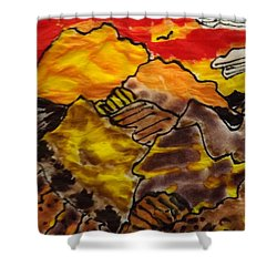 Shower Curtain featuring the painting Western Hills 4 by Don Koester