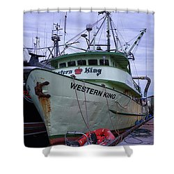 Shower Curtain featuring the photograph Western King At Discovery Harbour by Randy Hall