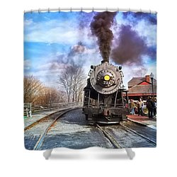 Western Maryland Steam Engine Shower Curtain