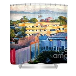 Western Part Of Sorong Town Shower Curtain