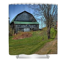 Western Pennsylvania Country Barn Shower Curtain