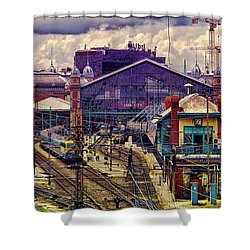 Western Rail Station, Budapest Shower Curtain