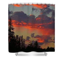 Western Sky Fire Shower Curtain