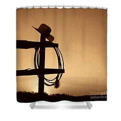 Western Sunset Shower Curtain by American West Legend By Olivier Le Queinec