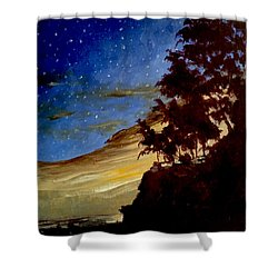 Western Sunset Shower Curtain