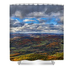 Western View From Mt Ascutney Shower Curtain