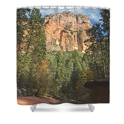 Shower Curtain featuring the photograph Westfork Trail by Tom Kelly