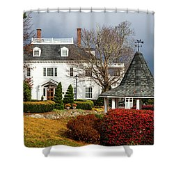 Shower Curtain featuring the photograph Westglow In Autumn by Karen Wiles