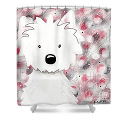 Westie Impressions II Shower Curtain