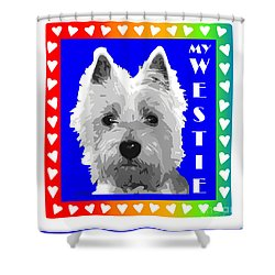 Westie Tshirt Shower Curtain