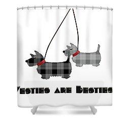 Westies Are Besties Shower Curtain