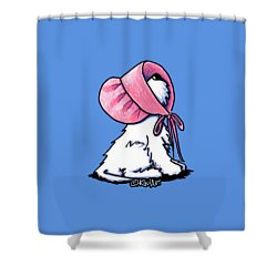 Westitude In A Pretty Pink Bonnet Shower Curtain