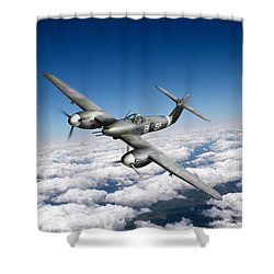 Westland Whirlwind Portrait Shower Curtain by Gary Eason