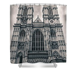 Westminister Abbey Bw Shower Curtain