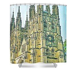 Westminster Abbey Postcard Shower Curtain