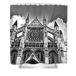 Westminster Abbey Under The Clouds And Rays Shower Curtain