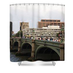 Westminster Bridge.  Shower Curtain