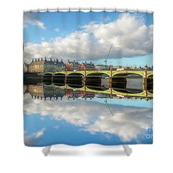 Shower Curtain featuring the photograph Westminster Bridge London by Adrian Evans