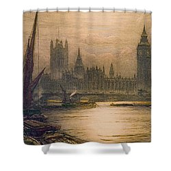 Westminster London 1920 Shower Curtain by Padre Art