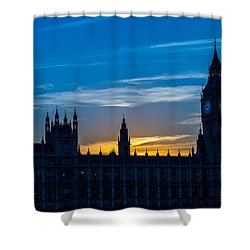 Westminster Parlament In London Golden Hour Shower Curtain