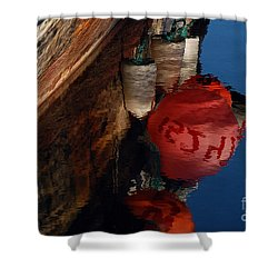Bouy Reflection Shower Curtain