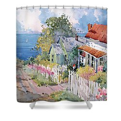 Westport By The Sea Shower Curtain by Joyce Hicks