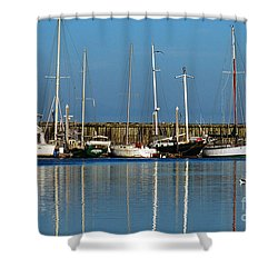 Westport Fishing Fleet I Shower Curtain