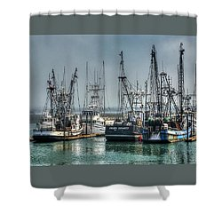 Westport Fishing Fleet - Washington Coast Shower Curtain