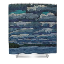 Westport Stratocumulus Virga Shower Curtain