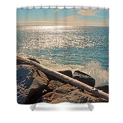 Westport Waves 2 Shower Curtain