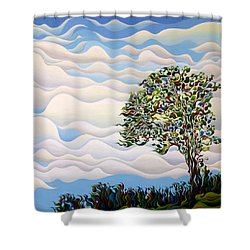 Westward Yearning Tree Shower Curtain